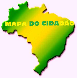 Mapa do Brasil - Verde e Amarelo